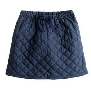 J.Crew Crewcuts Navy Quilted Skirt
